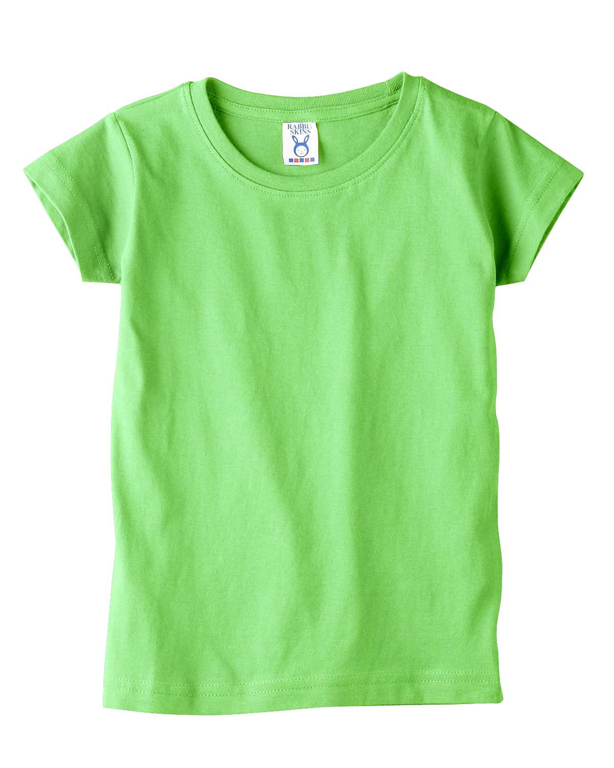 Rabbit Skins-Toddler'S 4.5 Oz. Girls' Fine Jersey Longer Length T-Shirt-3316