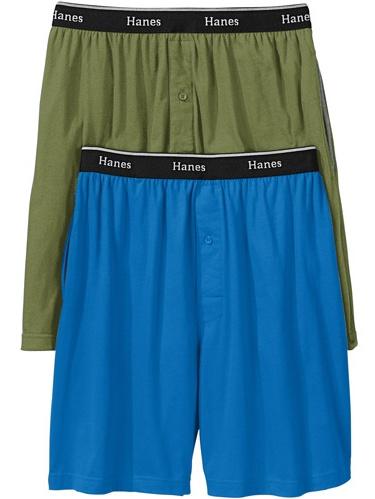 Men's Knit Shorts, 2-Pack