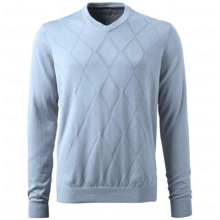 - Ashworth Men's Diamond Texture Pima Pullover V-Neck Sweater, Several Colors