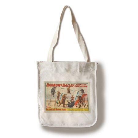 Barnum   Bailey   Pallenbergs Wonder Bears Vintage Poster Usa C  1915  100  Cotton Tote Bag   Reusable