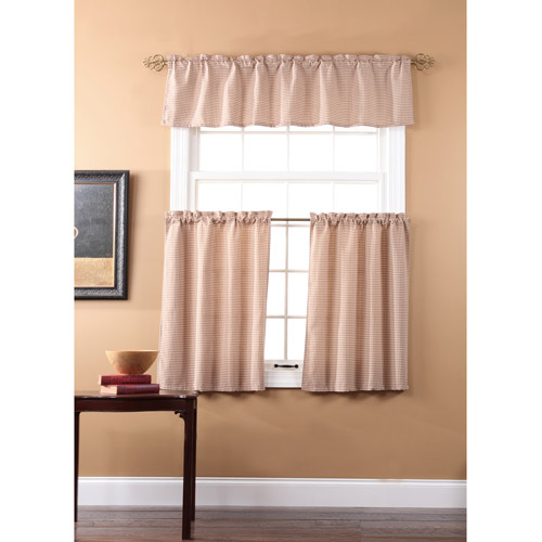 Fleetwood Kitchen Curtains, Set Of 2 With Valence - Walmart.Com