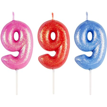 Way to Celebrate #9 Numeral Candle (Numbered Candles)