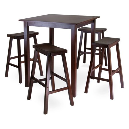 innovative design 4aa79 2736c Parkland 5pc Square High/Pub Table Set with 4 Saddle Seat Stools