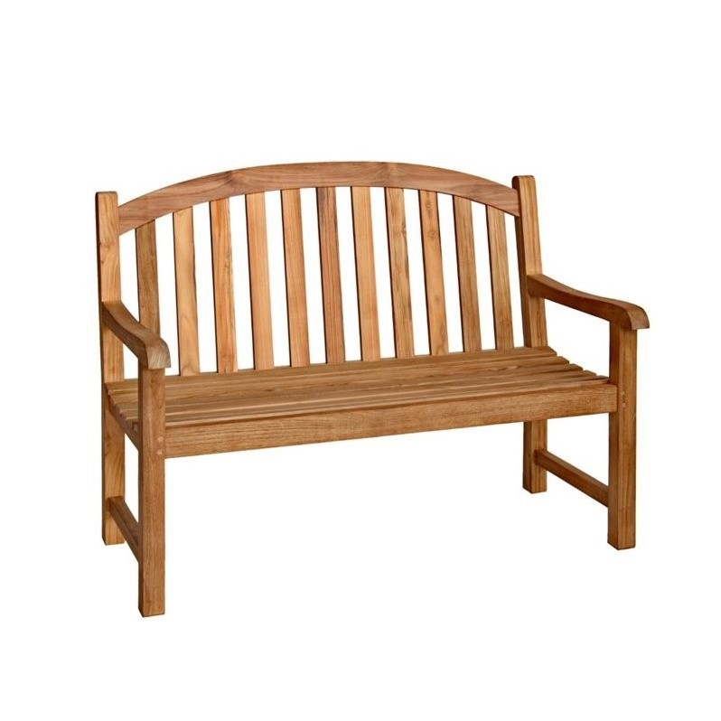 Three Birds Casual Victoria Garden 4' Patio Bench in Teak