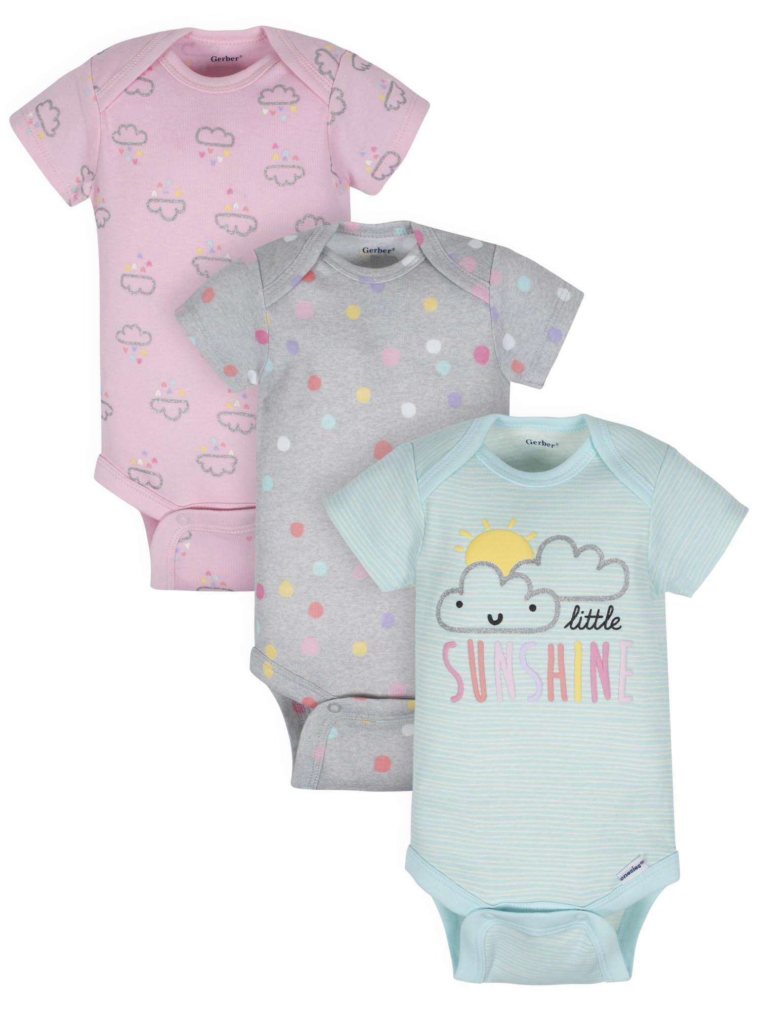 Toddler Baby Girls Bodysuit Short-Sleeve Onesie Live Slow Die Whenever Print Rompers Summer Pajamas