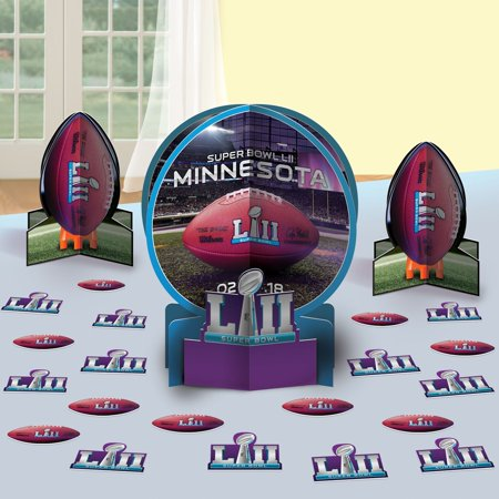 Super Bowl LII 2018 Superbowl 52 Table Decorating Kit 3 Centerpieces Plus 20 Confetti (Super Bowl Party Decorating Ideas)
