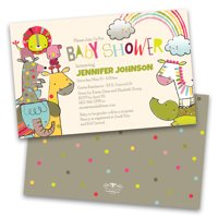 Personalized Whimsical Animals Baby Shower Invitations