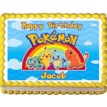 Pokemon Rainbow Edible Frosting Image Cake Topper 1 4 Sheet