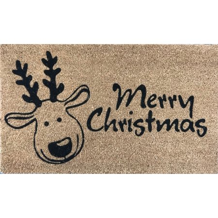 Tapis de porte extérieur antidérapant renne joyeux Noël - image 1 de 1