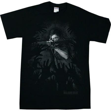 THE WALKING DEAD Daryl Hands Logo T-shirt M