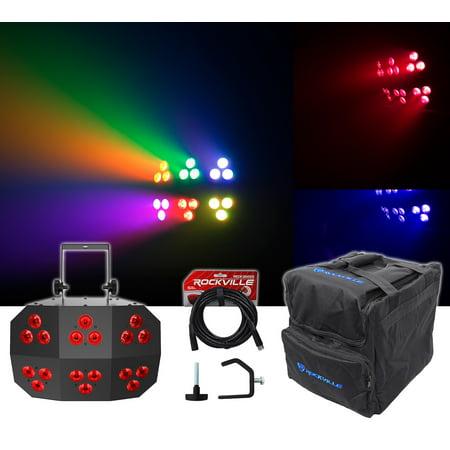 Chauvet DJ Wash FX 2 DMX RGB+UV Eye Candy Effect Dance Floor Light+Bag+Cable - Dance Floor Giveaways