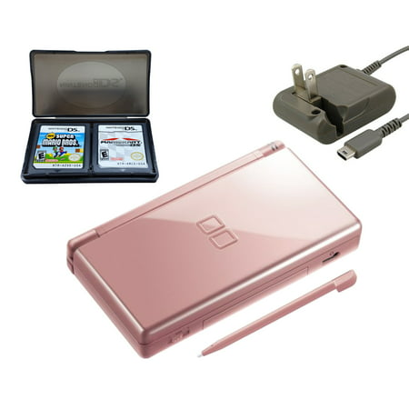 Refurbished Nintendo DS Lite Metallic Rose with Super Mario Bros and Mario  Kart Games
