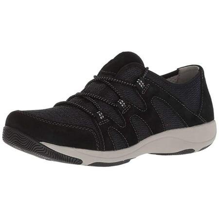 Dansko Women's Holland Suede Sneaker, Black, 37 B(M) EU ()
