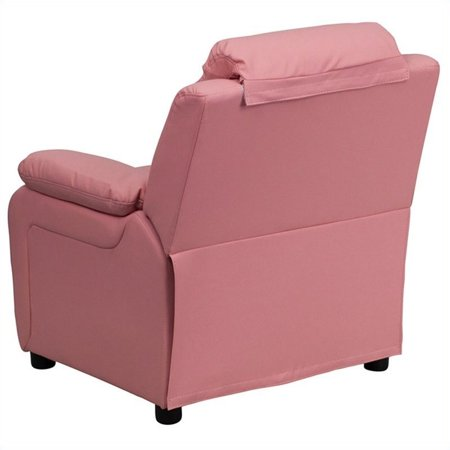 Bowery Hill Padded Kids Recliner in Pink - image 3 de 5