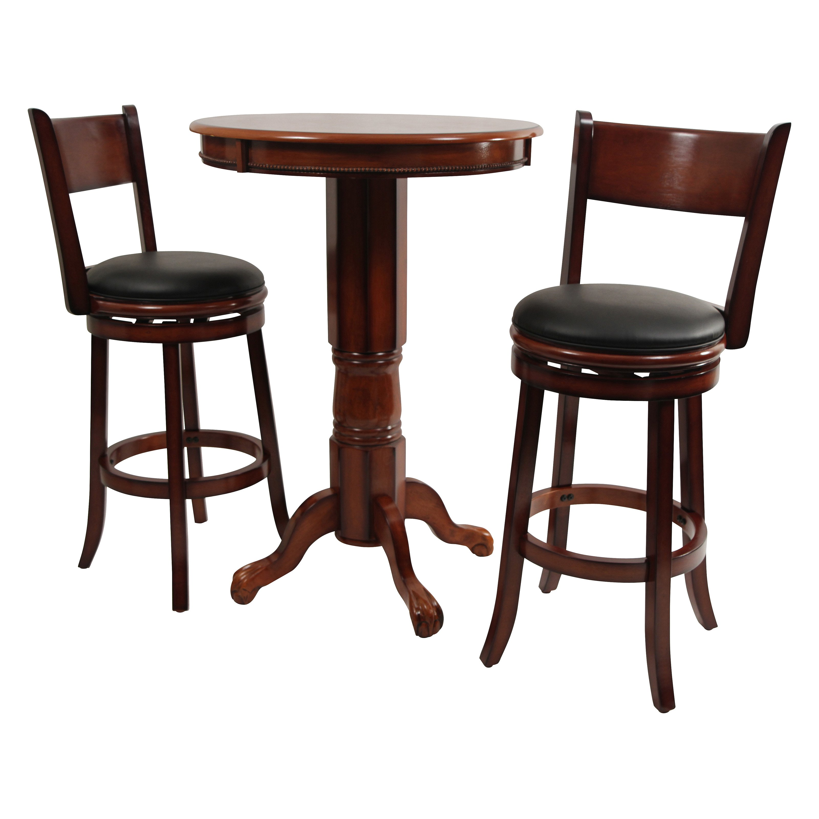 Boraam Palmetto 3 Piece Pub Table Set - Brandy