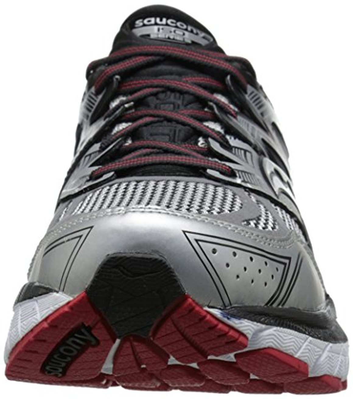 Saucony Men's Redeemer ISO Running Shoe, Silver/Black, 15 XW US