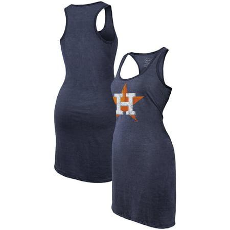 Houston Astros Majestic Threads Women's Tri-Blend Racerback Sleeveless Dress - Navy](Baseball Dress)