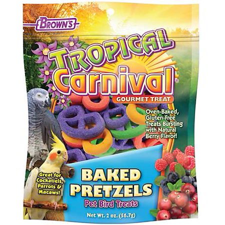 Brown's Tropical Carnival Baked Pretzels Bird Treats, 2 oz (pack of 1)