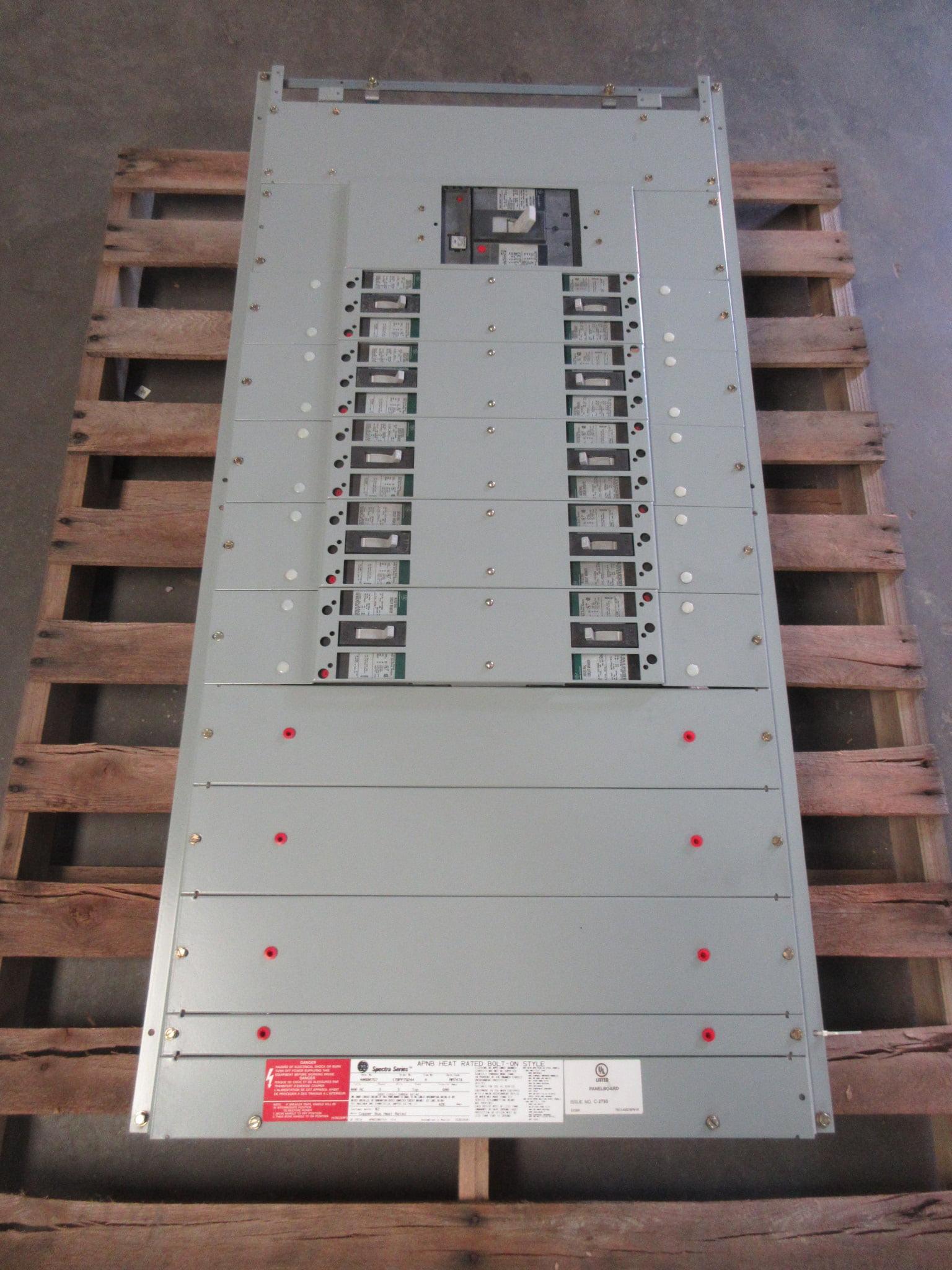New GE APNB Bolt-On Style 600 Amp Main Breaker Panelboard 480V 3-PH 3 Wire  NIB