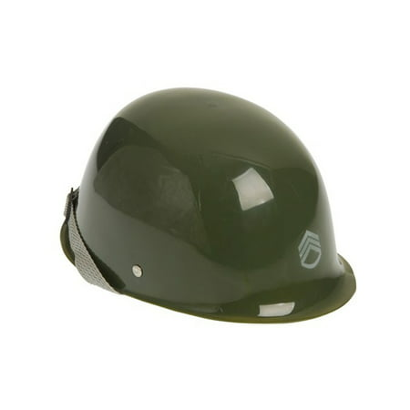 Child's Plastic Army Soldier Sergeant Military Helmet Hat Costume Accessory
