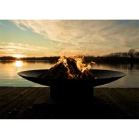Fire Pit Art AS 60 60 in. Asia Wood Burning Fire Pit