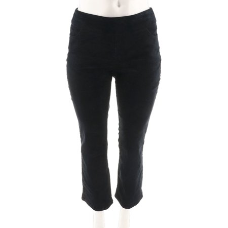 Belted Corduroy Pant (Denim & Co Smooth Waist Stretch Corduroy PullOn Pants A294470)