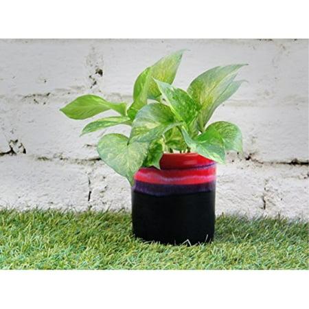 Decorative Planter Flower Pot Tree Holder Ceramic Round Storage Basket Bin Containers Rack for Indoor Outdoor Garden Lawn Display Ideal Home Garden Party - Baskets Planter Boxes
