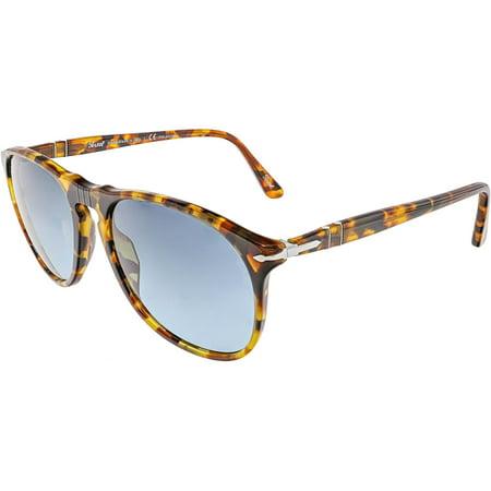 ad4e35f771ae3 Persol - Persol Men s Polarized PO9649S-1052S3-55 Brown Aviator Sunglasses  - Walmart.com