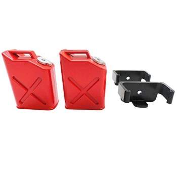 2 Pack US Seller RC Pit Products 1//10 RC Crawler Red Scale Jerry Gas//Oil Can