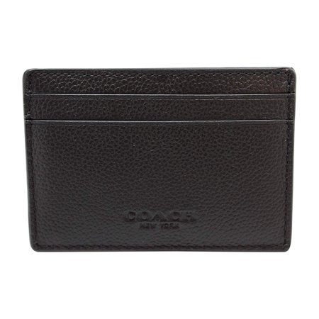 Coach Men's Money Clip Card Case Calf Leather Wallet -