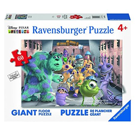 Ravensburger Disney Monsters Inc. The Whole Gang Floor Puzzle (60 Piece) ()