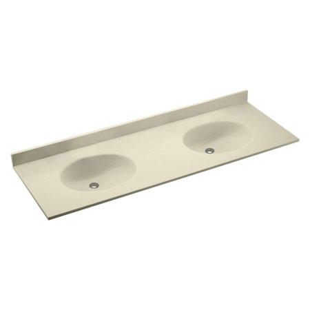 Swanstone 61W x 22.5D in. Chesapeake Solid Surface Double Sink Vanity Top (Chesapeake Swanstone Vanity Top)