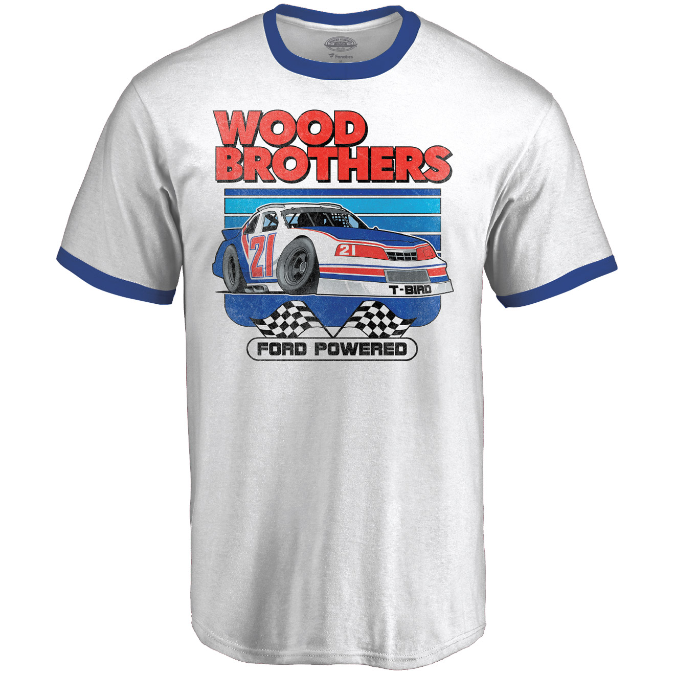 Wood Brothers Racing Fanatics Branded Ringer T-Shirt - White