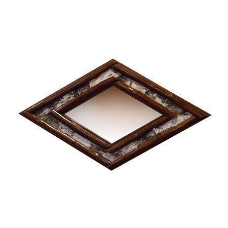 Furniture Barn USA™ Rustic Stained Red Cedar Log Diamond