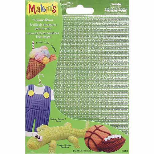 "Makin's Clay Texture Sheets, 7"" x 5-1/2"", 4pk"