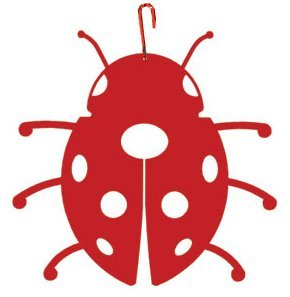Village Wrought Iron HOS-218R Red Ladybug Silhouette Decoration