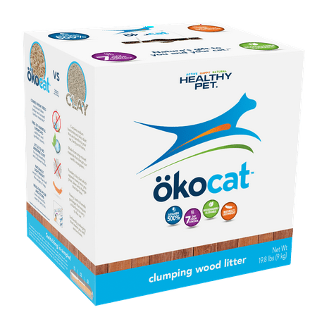 Okocat Clumping Wood Cat Litter, 19.8-lb
