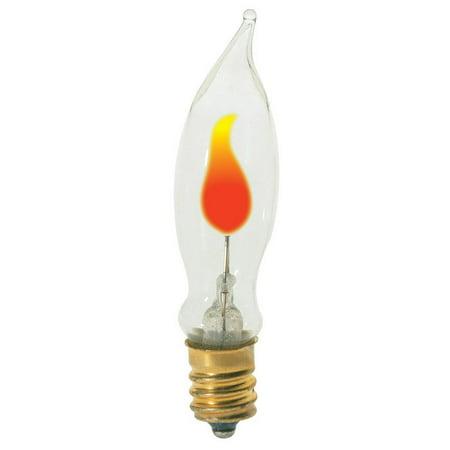 Satco S3661 3W 120V CA5.5 Clear E12 Candelabra Base Incandescent bulb ()
