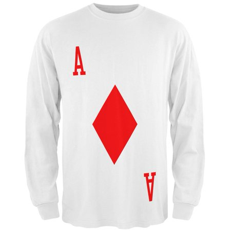 Halloween Ace of Diamonds Card Soldier Costume All Over Mens Long Sleeve T - April Smith Halloween