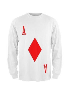 6ec8830aadd24f Product Image Halloween Ace of Diamonds Card Soldier Costume All Over Mens  Long Sleeve T Shirt