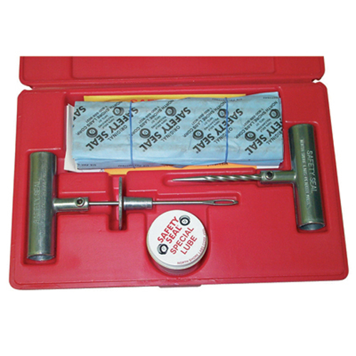 "Safety Seal SSKTP Truck Tire Repair Kit, with 30 8"" Inserts, Insertion Tool, Spiral Probe, Lube, Extra Needle"