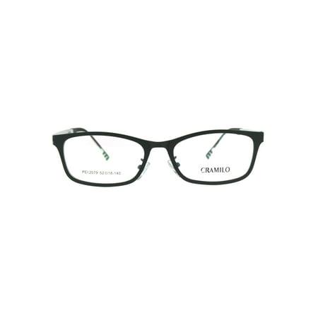 1fb067ce2ec4 Premium Optical Quality Narrow Rectangular Horn Rim Eyeglasses Frame Matte  Black - Walmart.com