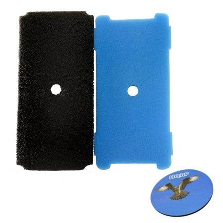 HQRP Blue and Black Pre-Filter for Sunterra 320106 Replacement + HQRP Coaster Sunterra Water Gardens