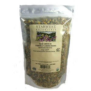 Starwest Botanicals Organic Chamomile Flowers whole Egypt  4oz