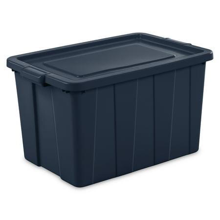 Sterilite 30 Gallon / 114 Liter Tuff1 Tote, Dark Indigo