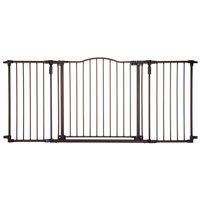 North States Pet Extra Wide Windsor Arch Dog Gate, Bronze