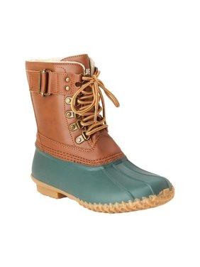 jbu by jambu women's ontario weather ready rain boot, hunter/whiskey, 6 medium us