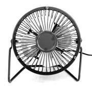 LeKing Mini USB Table Desk Fan Metal Portable Cooling Desktop Silent Fan for Home Office 4 Inch