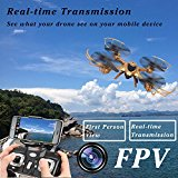 LeadingStar MJX X401H FPV Quadcopter Drone with Altitude-Hold EASY TO FLY RC Real Time Transmission HD Camera... by