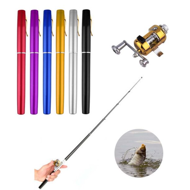 SUPERHOMUSE Winter Fishing Rods Ice Fishing Rods Portable Fishing Reels To Choose Rod Combo Pen Pole Lures Tackle Spinning Casting Hard Rod